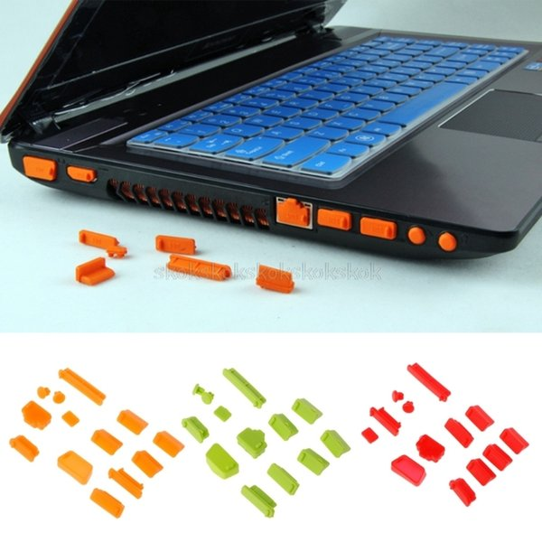 13pcs/set Cover Colorful Silicone Laptop Anti Dust Plug Cover Stopper Universal dustproof O26 dropship