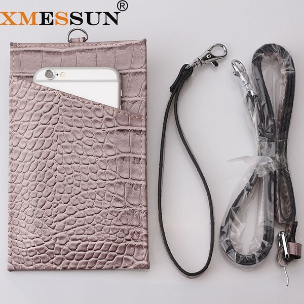 Hot Sale Phone Wallet Pouch Embossed Crocodile/ Snake Pattern Cow Leather Men Women ID Holder Big Purse for Phone