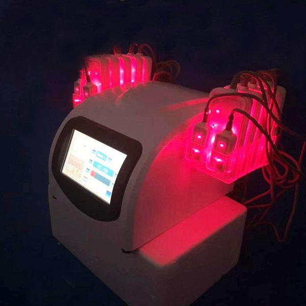2019 Laser a diodi professionale Lipo Laser 650nm con 14 cuscinetti Macchina lipo laser per perdita di peso Macchina dimagrante corpo veloce per uso domestico