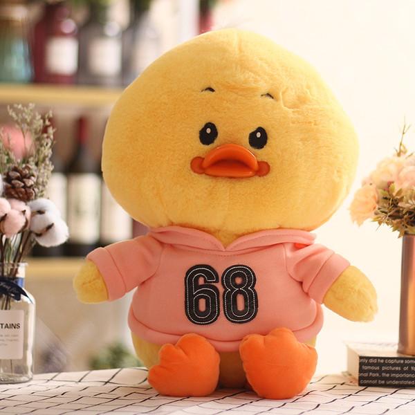 Criativo web celebridade pouco pato amarelo brinquedos de pelúcia bonito super adorável boutique bonecas menina presente do coração atacado 02
