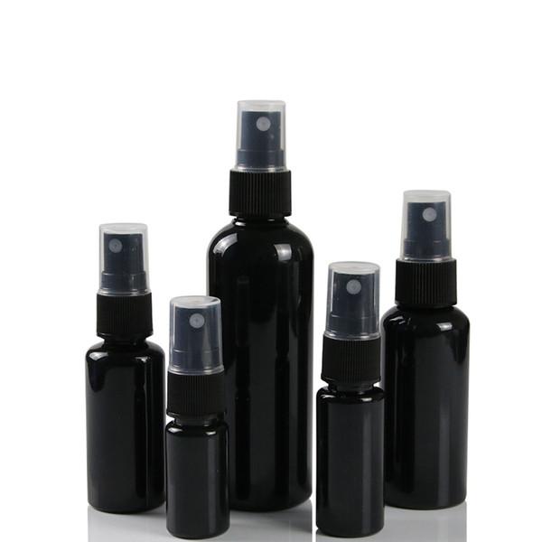 best selling 10 20 30 50ML Black Refillable Fine Mist Spray Bottle Perfume Sprayer Bottles Cosmetic Atomizers PET