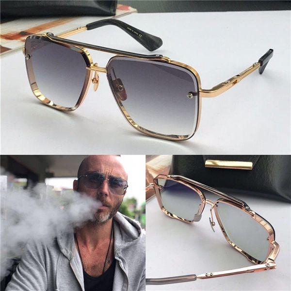 quadrado sem moldura UV 400 lente novo luxo óculos homens design de metal óculos de sol do vintage estilo de moda com embalagem original