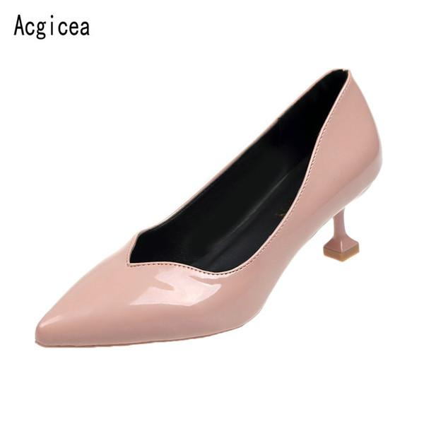 Designer Dress Shoes New Trend Donna Elegant pumps Comodi tacchi alti Donna Summer Best Quality Ladies Casual Purple Jeans Calzature