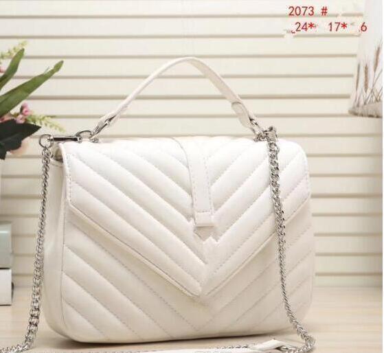 Hochwertige classicl mode pu leder handtaschen frauen umhängetaschen dame tragetaschen geldbörse umhängetasche 2073 size24 * 6 * 17cm
