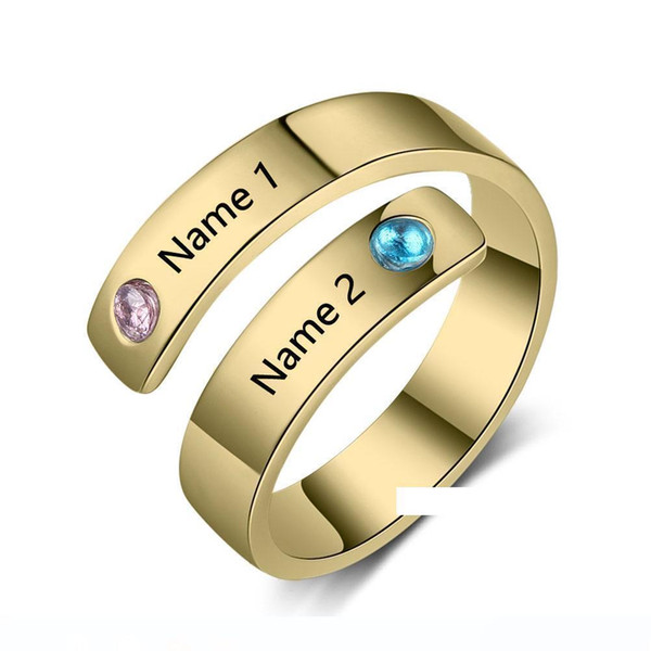 a266XDKSJK Personalized Message Ring Sterling Silver Engraved Name ...