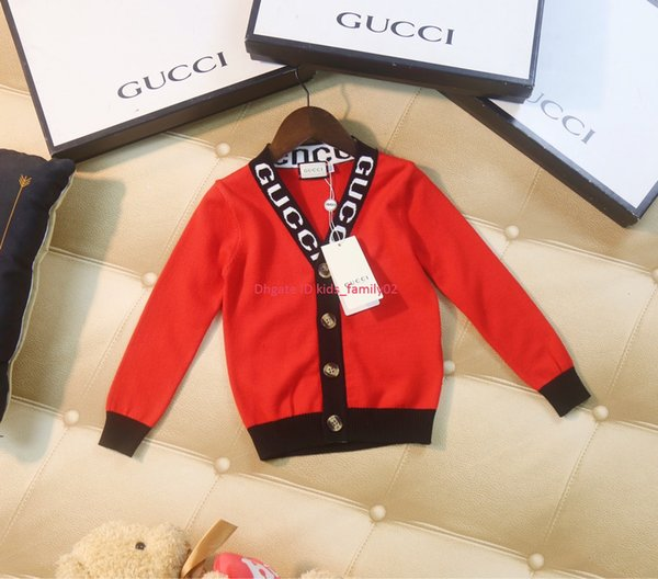 Children sweaters kids designer clothing fashion autumn new boys and girls cardigan sweater solid color design has elasticity