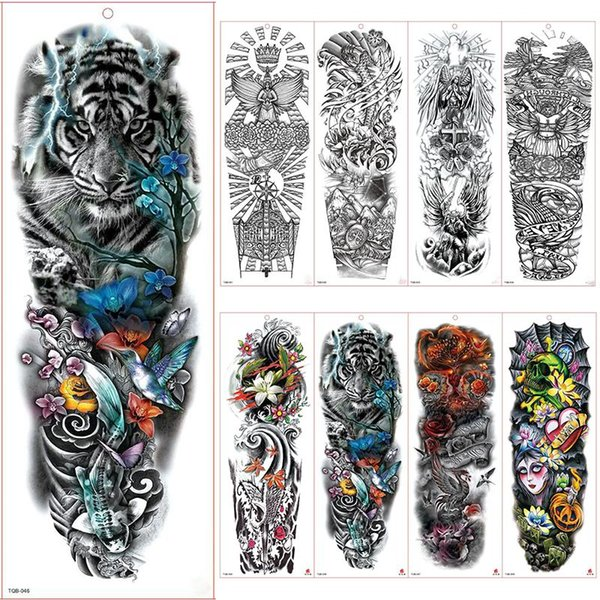 Frauen Männer Unisex Wasserdicht Temporäre Tattoos Aufkleber Body Art Fake Tattoos Sexy Arm Aufkleber Abnehmbar für Männer Frauen