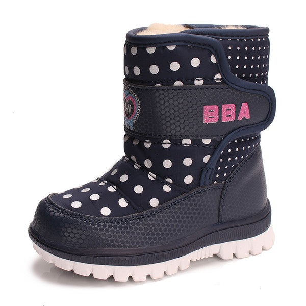 Children Boots Boys Girls Snow Boots Princess Platform Kids Winter Wool Shoes Waterproof non-slip For 1-3 Year Old