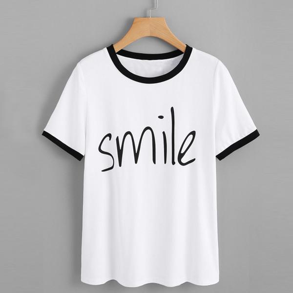 Jolies et mignonnes cils Eye Lashes Red Lips Print Women t-shirt d'été décontracté à manches courtes t-shirt à manches longues femmes T-shirt blanc TShirt Tops