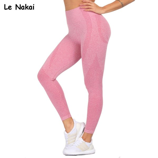 Pink Vital Seamless Yoga Leggings for Women Gym Leggings Sport Fitness Pants High Waist BuScrunch Energy Flex Pants