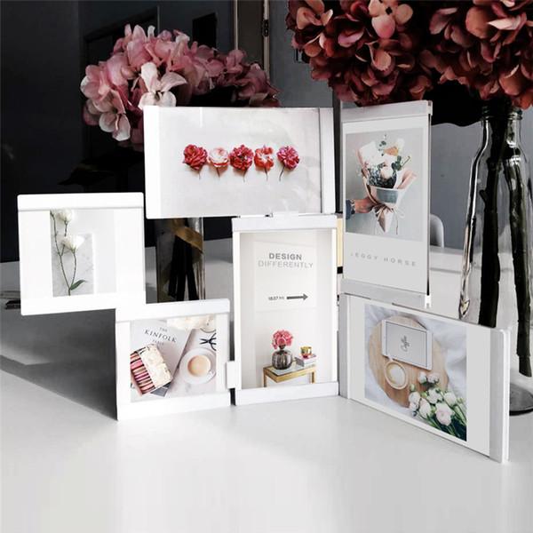 Многокадровые фоторамки белые фоторамки домашнего декора прозрачный многофункциональный коллаж фото набор с всасыванием