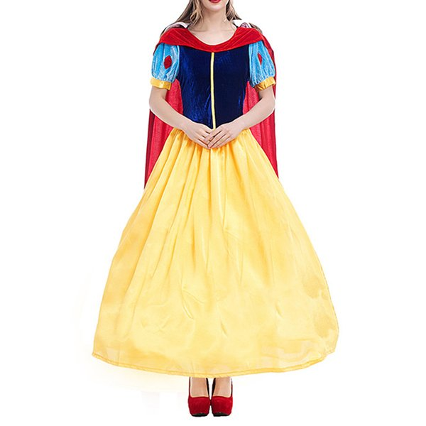 Lady Snow White's Role As Princess's Party Dresses Girl's Birthday Cosplay Dresses Adult Show Dresses Fairy Tales Lady's Dress