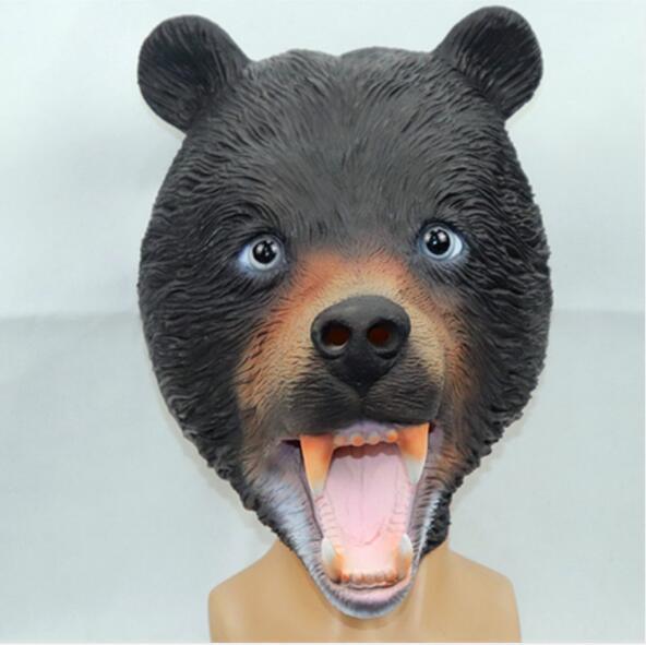Hot Bear Halloween Maske Scary Clown Dog Maske Latex Vollgesichtsmaske Cosplay Horror Maskerade Erwachsene Ghost Party Dämon Clown Masken Großhandel