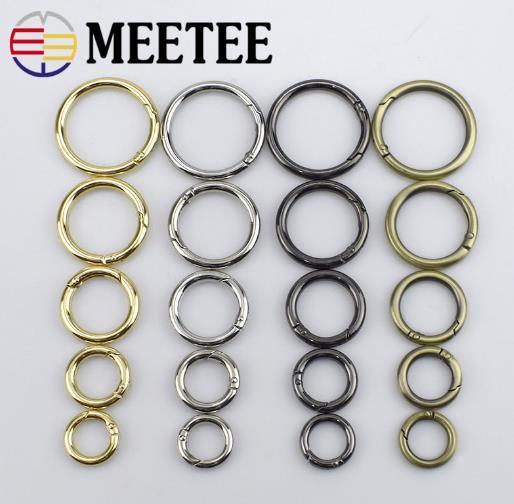 Meetee16mm-38mm O Ring Connection Alliage Sac En Métal Sac Ceinture Strap Boucles En Cuir Chien Chaîne Boucle Snap Fermoir Crochet DIY Sac Accessoires