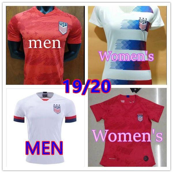 2019 Top American home away custom jerseys DEMPSEY DONOVAN American jersey BRADLEY PULISIC football ladies shirt