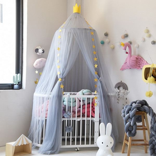 Urijk 10 Pieces of Hanging Mosquito Net Canopy Hung Kids Baby Bedding Dome Bed Mosquito Net for Children Room Decoration