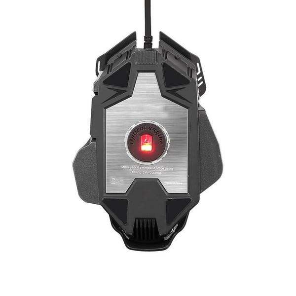 Портативная механика мышь игровая Полихроматическая светодиодная оптоэлектронная оптическая мышь