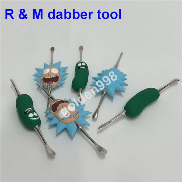 Rick and Morty Dabber Werkzeug Schüssel Dab Glas Carb Cap Funktion für domeless Quarz Banger Nägel Enails Öl Wachs berauschende Glas Dab Rig