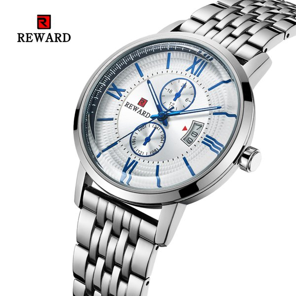 watch men waterproof watch classy Stainless Steel 2.5D mineral glass Complete Calendar business sport bia dial RD63081M