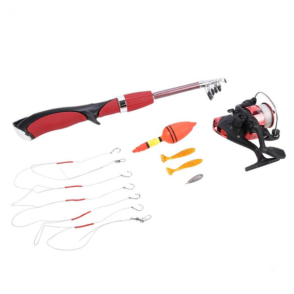 Fishing Rod Reel Tack Set Rod Combo Lure Hook Ice Fishing Spinning Reel Telescopic Rod Pole Gear Kit Fishing Pesca Accessories