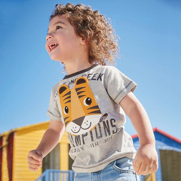 2019 marka çocuk giyim yaz yeni çocuk giyim örme pamuk kısa kollu baskılı erkek t-shirt B11