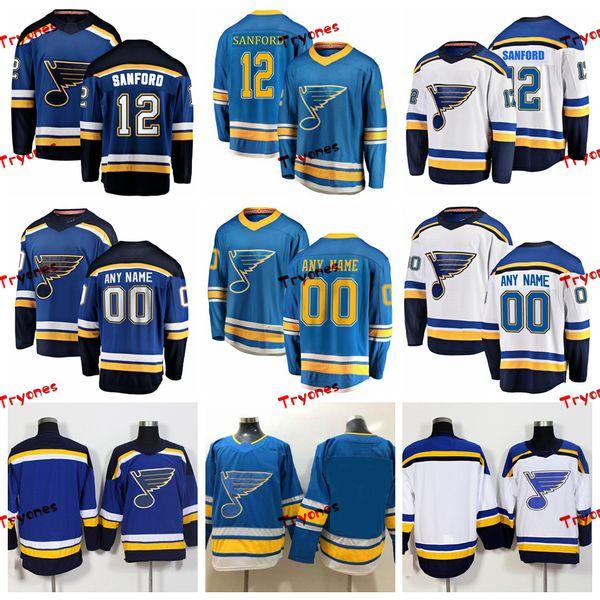 wholesale dealer fbcb4 11478 2019 2019 St. Louis Blues Zach Sanford Stitched Jerseys Customize Alternate  Light Blue Shirts #12 Zach Sanford Hockey Jerseys S XXXL From Tryones, ...
