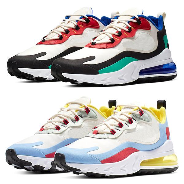 Nike Air Max 270 React Günstige Männer Frauen Laufschuhe Triple Schwarz Weiß Kern Oreo CNY Cool Grau Trainer Sport Turnschuhe Größe 36-47