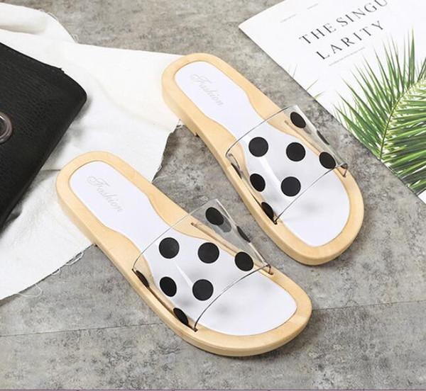 Les femmes dérapent la résistance Sandales Slipper Designer Chaussures Summer Fashion Wide Flat Sandales glissantes Slipper Flip Flop