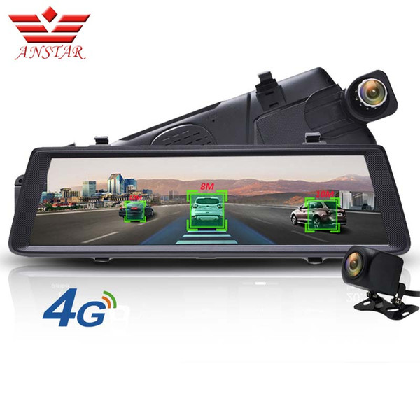 anstar adas car dvr camera 4g android video recorder dual lens bluetooth wifi fhd 1080p gps navigator car rearview mirror dvrs