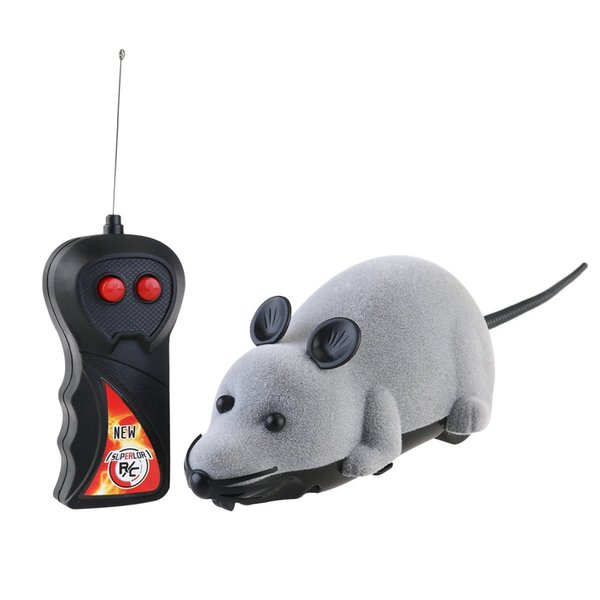 Funny Remote Control Toy Mouse Wireless Rat Creative Toy for Children Playing or Teasing Pet Cat Dog