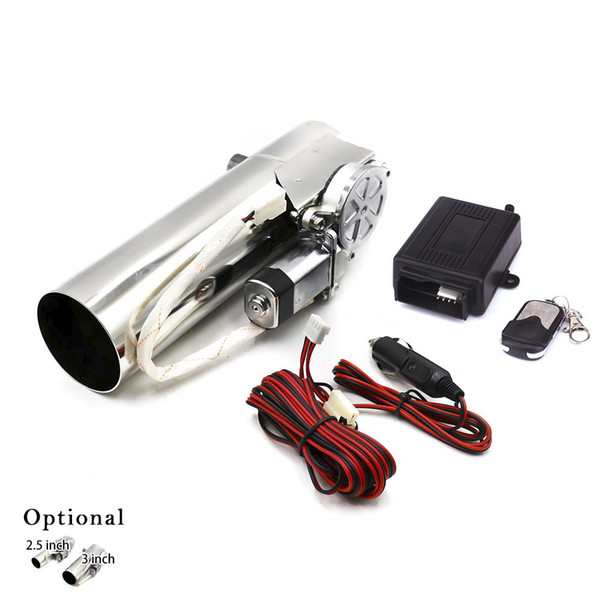 best selling 2.5'' 3'' inch Exhaust Control Valve Exhaust Pipe Electric Pipe Exhaust Electrical Cutout With Remote Control