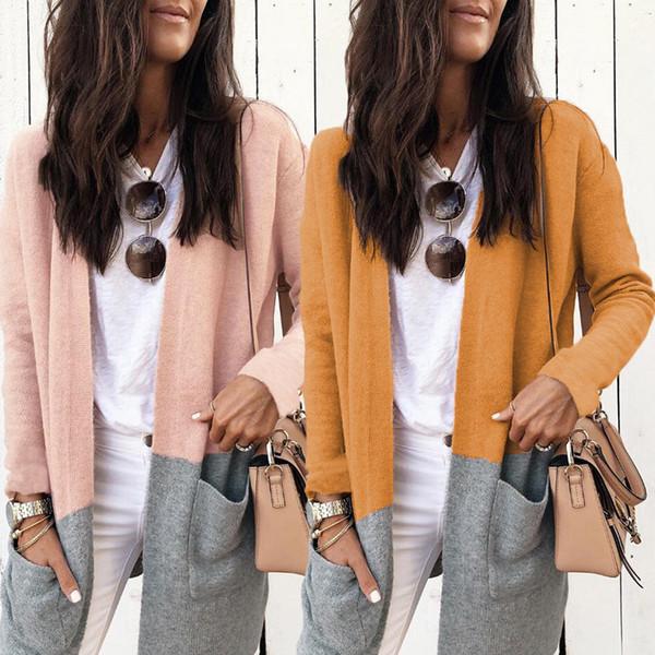 Pocket Long Sleeve Women Autumn Winter Basic Jacket Coat Fashion Female Outwear Tops Casual Ladies Jackets Coat ZVT152
