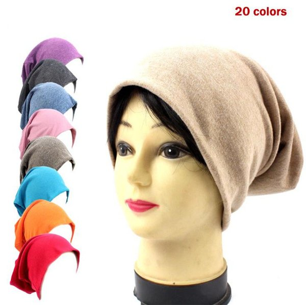 New Fashion Men Women Knitted Cotton Beanie Candy Color Skully Hat Hip Hop Bonnet Hats Outdoor Winter Warm Thin Beanies T334
