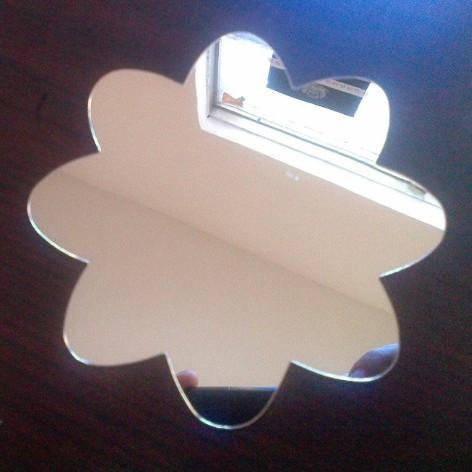 Espejo de acrílico con forma arbitraria personalizada Lentes de acrílico con forma de girasol Lente de vidrio de muelle de PMMA Lente decorativa y podemos probar