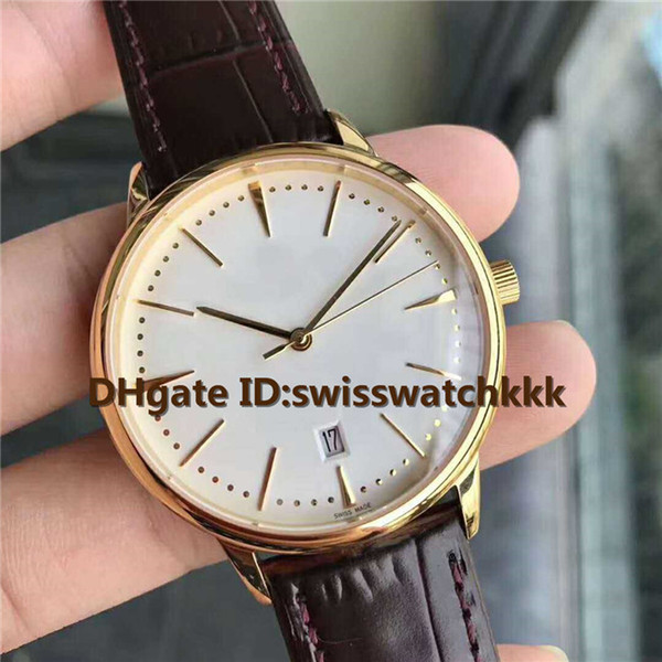 TW Top 81530 mens watches Ultra Thin Swiss 2450 Automatic Sapphire Crystal 18K Yellow Gold Case calfskin strap Solid Case Back Mens Watch