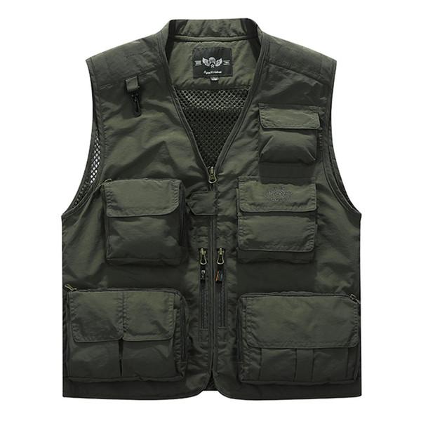 Breathable Vest Men Summer Sleeveless Jacket Men Vest Multi-pockets Photographer Casual Waistcoat Chalecos Para Hombre