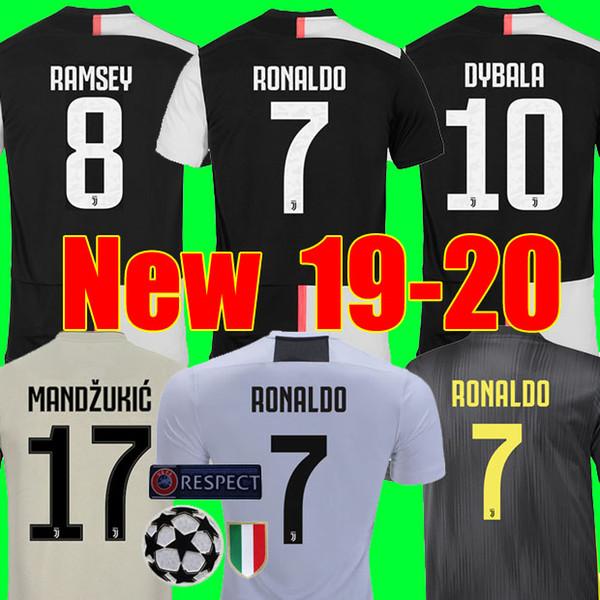 Thailand RONALDO Juventus 2019 2020 champions league soccer jerseys DYBALA 18 19 20 Sports football kit shirt MEN WOMEN KIDS sets JUVE