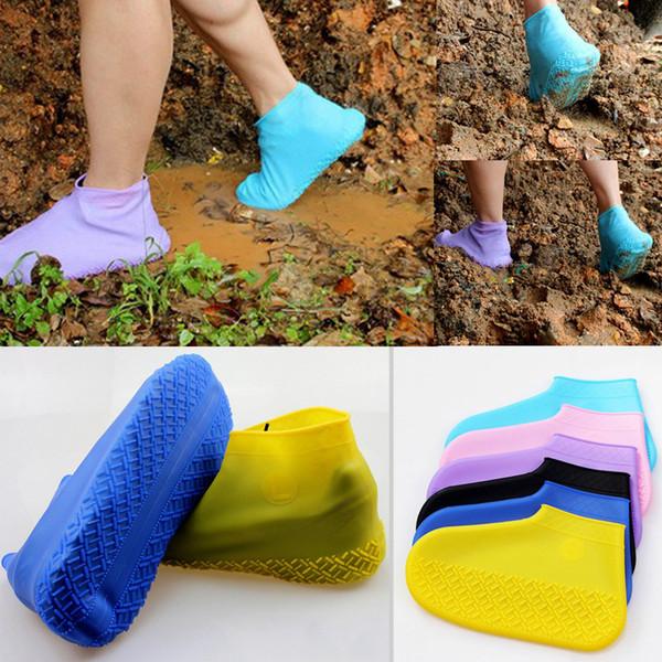Çocuklar Yetişkin Kadın Erkek Erkek Kız Yağmur Ayakkabı Su Geçirmez Katlanabilir Kayma Yüzme Kapakları Yalınayak Plaj Ayakkabıları Streç Yürüyüş Sneakers
