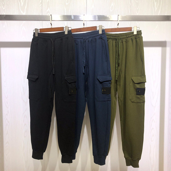 best selling Fashion New Mens Stylist Pants Mens High Quality Overalls Men Women Fashion Casual Black Green Blue Cargo Pants
