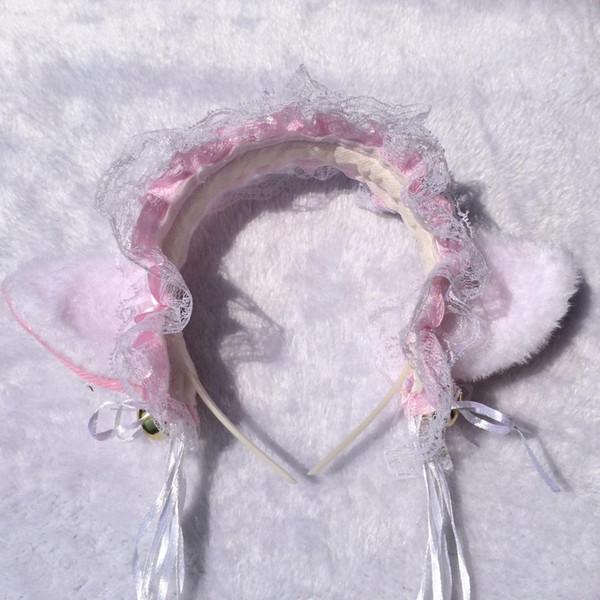 Sexy dentelle Accessoires cheveux Accessoires cheveux Serre-tête pour les femmes filles oreille Cartoon Chat Hairband Couvre-chef fournitures de fête de Noël