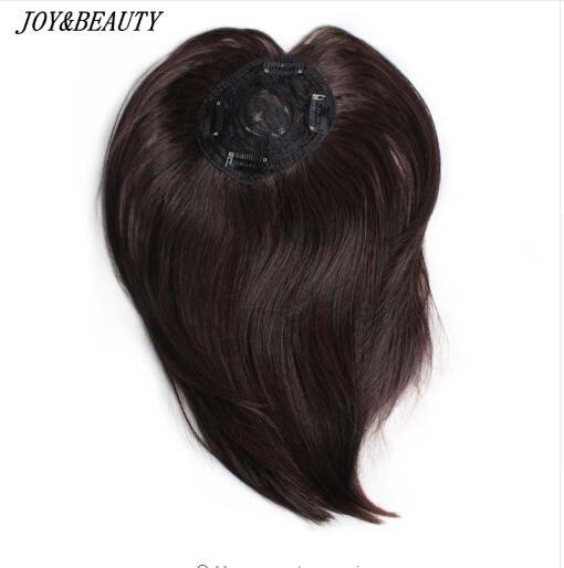 best selling 10 inch Synthetic Hair Clip In Toupee Hairpieces Straight Hair Bang Fringe Top Closures Hairpins for Men and Women