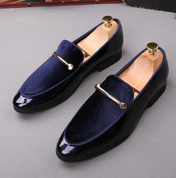 2019 new men's shoes British autumn new business dress sleeve feet soft father shoes size:EU39-44