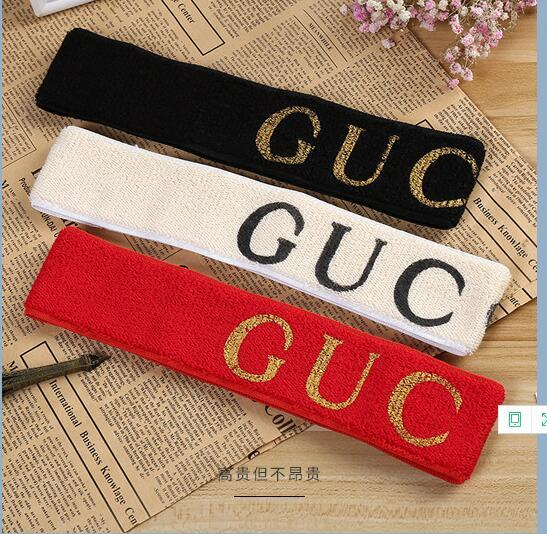 Designer Elastic Headband for Women and Men Best Quality Brand Green and Red Striped Hair bands Head Scarf For Children Headwraps Gifts