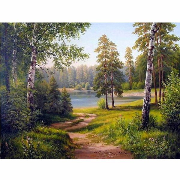 CHUNXIA Framed DIY Painting By Numbers Landscape Acrylic Painting Modern Picture Home Decor For Living Room 40x50cm RA3132