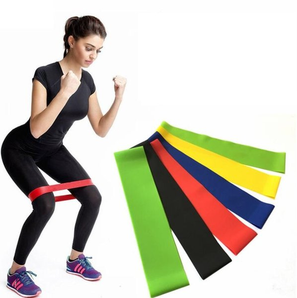 top popular Tension Resistance Band Pilates Yoga Rubber Resistance Bands Fitness Loop rope Stretch Bands Crossfit Elastic gym training exercise band 2021
