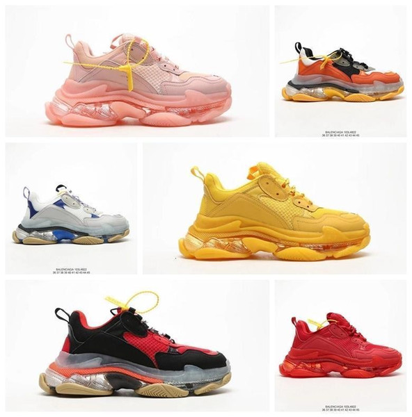 More Than 2019 Luxury Triple S Designer Low Daddy Sneakers Multiple Soles Men ' ;S And Women ' ;S Casual Casual Shoes With