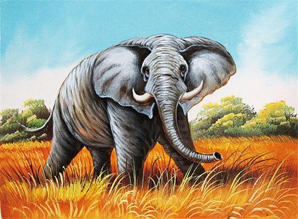 Kunst gemälde geschenk diy schlafzimmer voller diamant souvenir strass kreuzstich handwerk diamant gemälde 5d mural afrikanischer elefant
