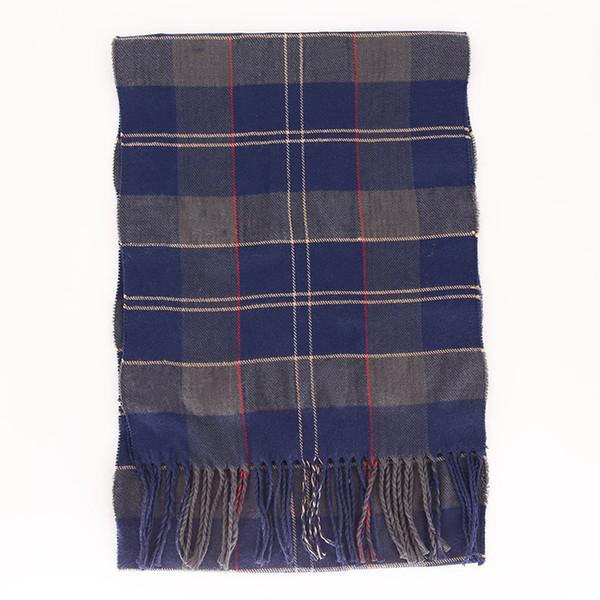 Inverno 2018 cashmere homens cachecol xadrez franjas estilo britânico várias cores cobertor opcional lenço novo designer de cabelo crianças