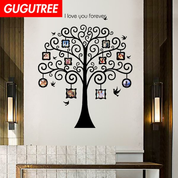 Decorate Home photo trees cartoon art wall sticker decoration Decals mural painting Removable Decor Wallpaper G-1746