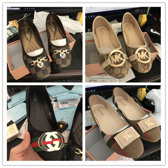 canal chaussures luxe conçoit femmes de marques de mode 2019 été Casual chaussures Chaussures plates Louis bout rond semelles souples m k